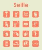 Set of selfie simple icons Stock Photos