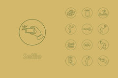 Set of selfie simple icons Royalty Free Stock Image