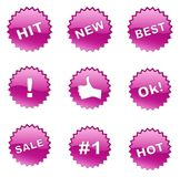 Set of selling badges (buttons) Stock Images