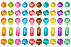Set of Selling Icon Royalty Free Stock Images