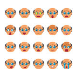 Set of a senior man faces showing different emotions. For design Stock Image