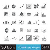 Set of SEO and Analytics icon  on white Royalty Free Stock Images