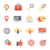 Set of SEO and Development flat icons Royalty Free Stock Photography