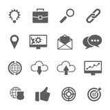 Set of SEO and Development icons Royalty Free Stock Photos