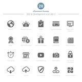 Set SEO i rozwój ikony Ustawia 3 Fotografia Royalty Free