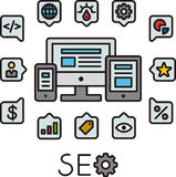 Set of SEO icons Royalty Free Stock Photo