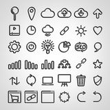 Set of SEO icons Royalty Free Stock Images
