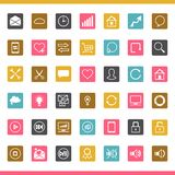 Set of 42 SEO internet icons Royalty Free Stock Image