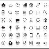 Set of 42 SEO internet icons Royalty Free Stock Photography