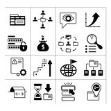 Set of SEO, web and internet icons. Isolated on white Royalty Free Stock Photography