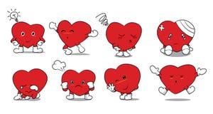 Set serce Zdjęcie Stock