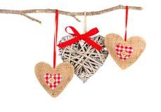Set serce kształtna dekoracja, Obrazy Royalty Free