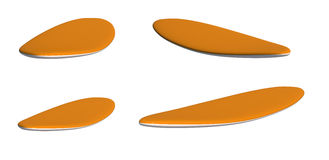 Set of serf boards Stock Photo