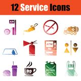Service icon set Royalty Free Stock Photography