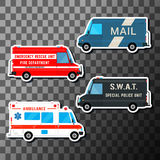 Set of service vans Royalty Free Stock Photo