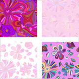 Set Set of colorful purple patterns Royalty Free Stock Photos