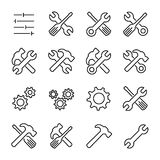 Set of setting icons in modern thin line style Stock Photo