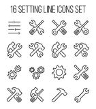 Set of setting icons in modern thin line style Royalty Free Stock Photos