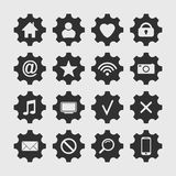 Set of settings icon. Royalty Free Stock Image