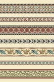 Set of seven decorative borders Royalty Free Stock Photography