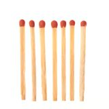 Set of seven red wooden matches on white background Royalty Free Stock Photos