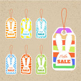Set of seven tags Stock Images