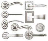 Set of several door handles. 3d rendering Royalty Free Stock Photo