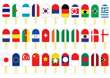 Set of Several Flag Icecream. Set of Color Several Flag Icecream Royalty Free Stock Photography