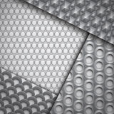 Set of several seamless carbon fiber patterns Stock Photos