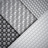 Set of several seamless carbon fiber patterns Royalty Free Stock Photos