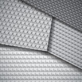 Set of several seamless carbon fiber patterns Royalty Free Stock Images