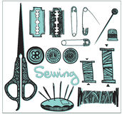Set sewing accessories Stock Photo
