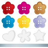 Set of sewing buttons Stock Images