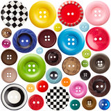Set of sewing buttons Stock Photography