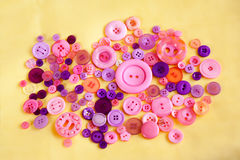 Set of sewing buttons Royalty Free Stock Photo