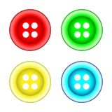 Set of sewing color buttons Stock Photo