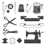 Set of sewing desinged elements Stock Photos