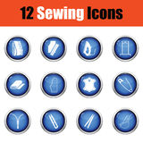 Set of sewing icons. Stock Images