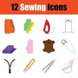 Sewing icon set Stock Photos