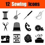 Set of sewing  icons Royalty Free Stock Image