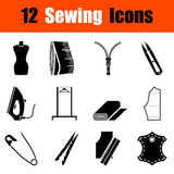 Set of sewing  icons Royalty Free Stock Photo