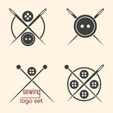 Set of sewing logotypes Royalty Free Stock Images