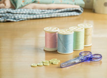 Set of sewing threads Royalty Free Stock Image