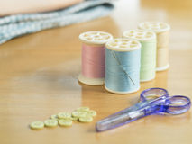 Set of sewing threads Royalty Free Stock Photos