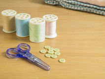 Set of sewing threads Stock Image