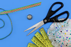 Set sewing tools Stock Photo