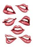 Set of sexy lips. Vector illustration Stock Photos