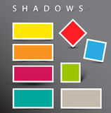 Set of  shadow effects Stock Photography