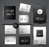 Set of modern web shadow design templates Stock Image