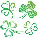 Set of shamrocks. Royalty Free Stock Photos